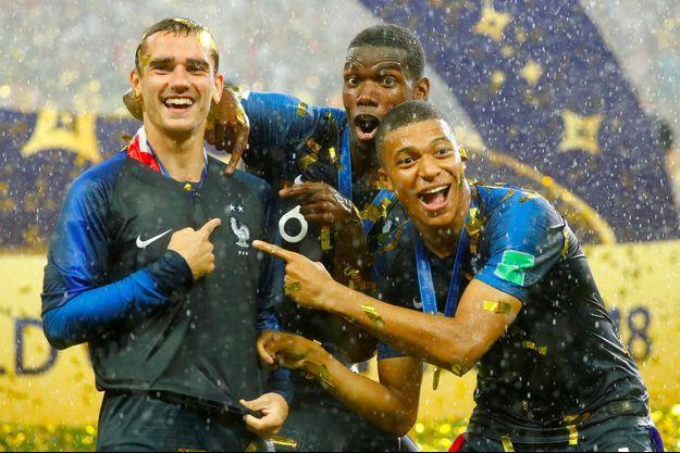 Antoine Griezmann, Paul Pogba, Kylian Mbappé