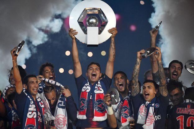 Paris Saint-Germain sacré champion, le 18 mai 2019.