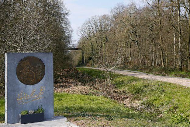 La célèbre tranchée d'Arenberg du parcours de Paris-Roubaix.
