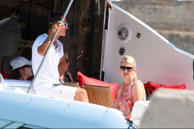 Michael Schumacher et son épouse Corinna à Majorque en 2009.