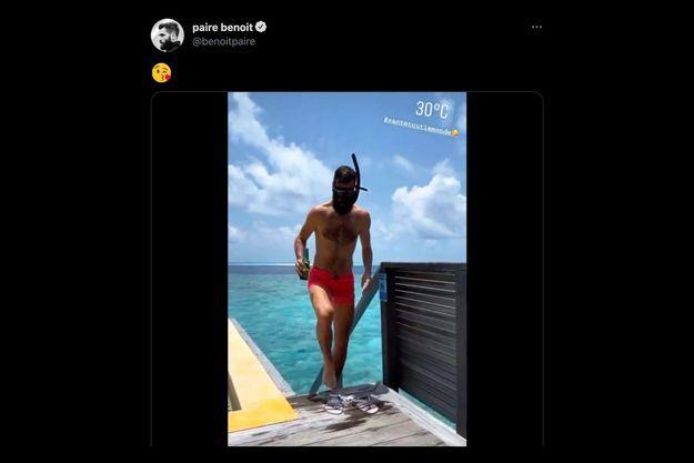 Benoît Paire aux Maldives.