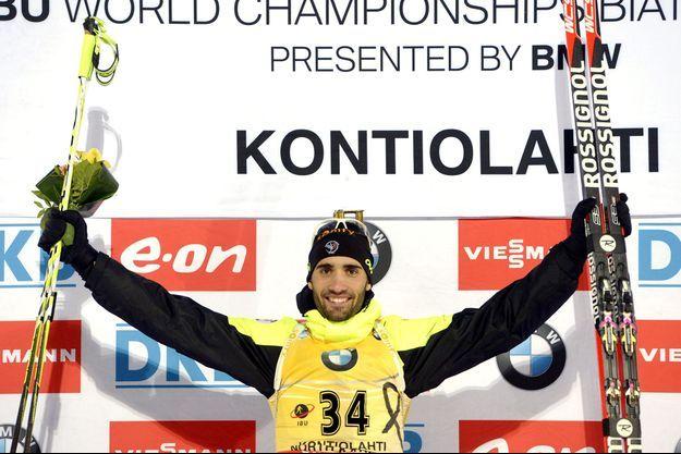 Martin Fourcade a emporté la coupe du monde de biathlon.