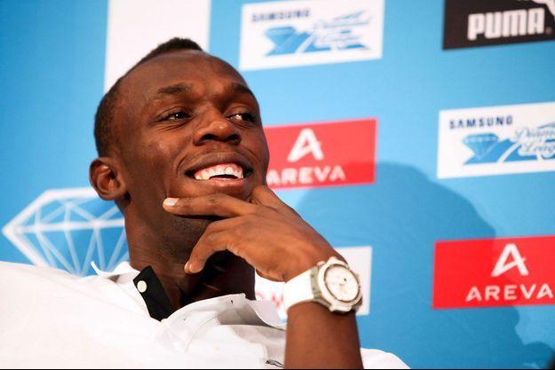 USain Bolt, ici en 2011 lors d'un évènement au Stade de France.