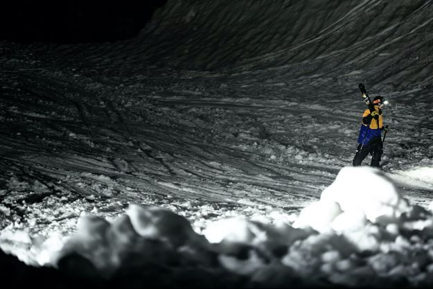 Ben Buratti, seul dans la montagne.