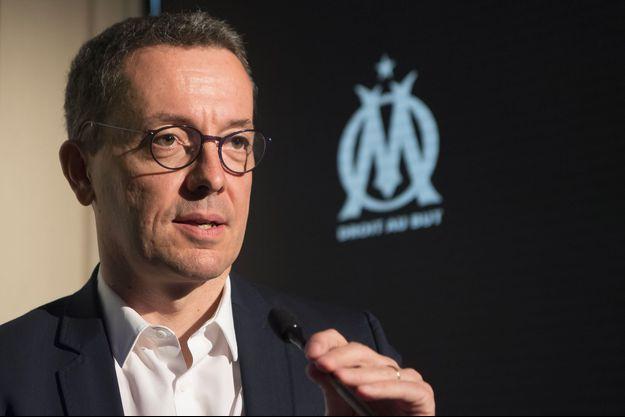 Le président de l'Olympique de Marseille, Jacques-Henri Eyraud.
