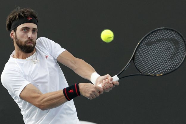 Nikoloz Basilashvili lors de l'Open d'Australie en janvier 2020