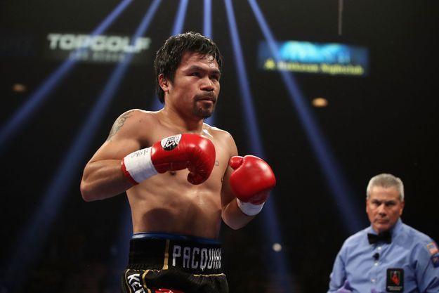 Manny Pacquiao le 19 janvier dernier, à Las Vegas.