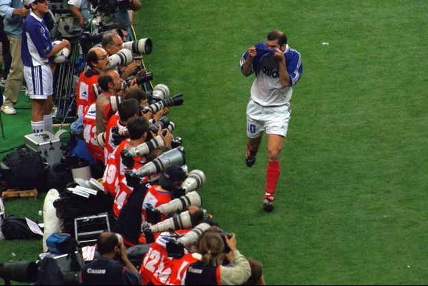 Zinedine Zidane le 12 juillet 1998.