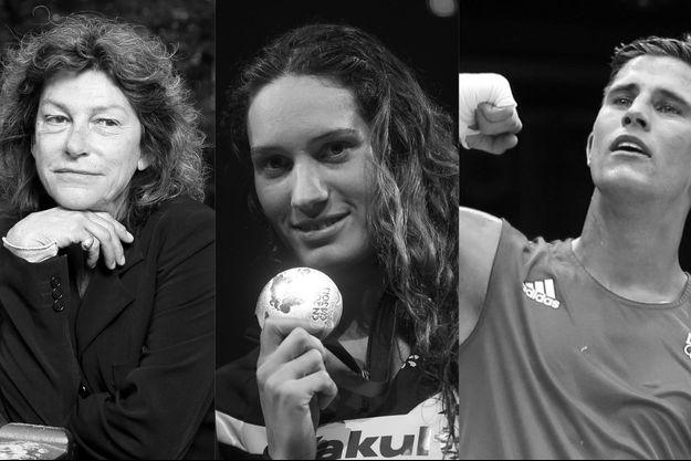Florence Arthaud, Camille Muffat et Alexis Vastine.
