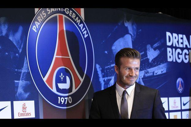 David Beckham a signé au PSG.