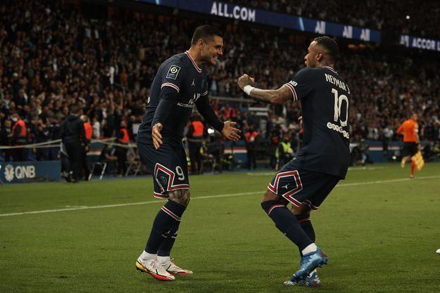 Icardi et Neymar, le 19 septembre 2021 au Parc des Princes.