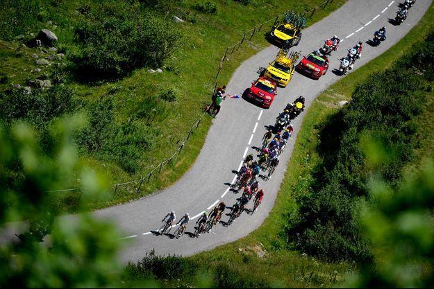 Image d'illustration, durant l'édition 2020 lors de l'étape entre Bourg-Saint-Maurice et l'Alpe d'Huez.