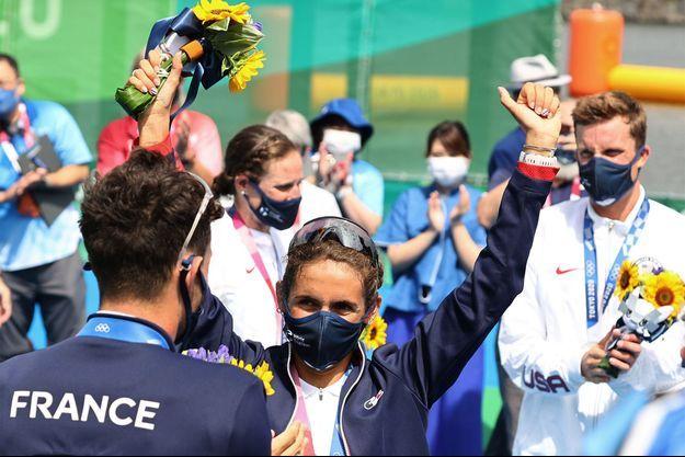 Les Bleus ont décroché la médaille de bronze du relais mixte en triathlon des Jeux de Tokyo.