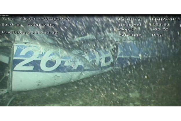 Epave de l'avion d'Emiliano Sala.