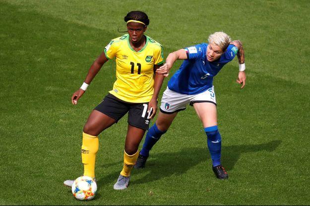 Khadija Shaw, l'attaquante de la Jamaïque.
