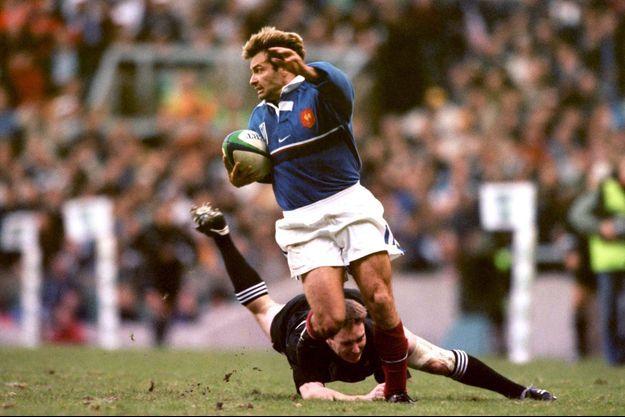 Christophe Dominici face à la Nouvelle-Zélande en 1999.