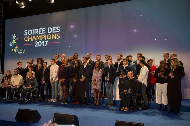 Le beau parterre français honoré lors de la Soirée des Champions.