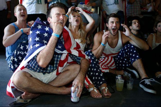 Des supporters de Team USA à Los Angeles