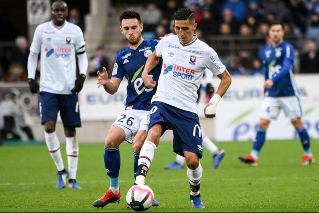 Strasbourg face à Caen le 9 décembre 2018.
