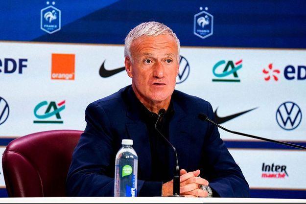 Didier Deschamps en conférence de presse jeudi.
