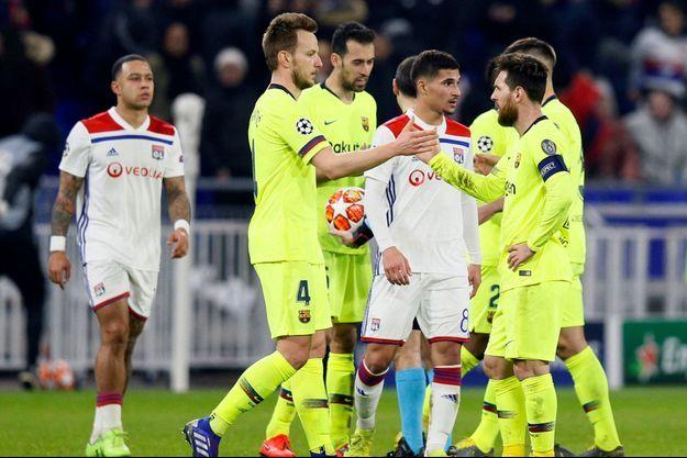 Lyon a tenu tête à Barcelone mardi soir.