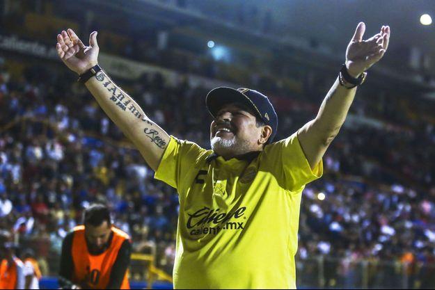 Diego Maradona en novembre 2018 à Culiacan