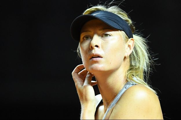 Maria Sharapova en entraînement à Stuttgart, en avril dernier.