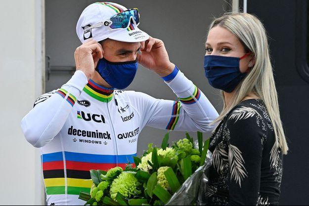 Julian Alaphilippe et Marion Rousse en avril dernier.