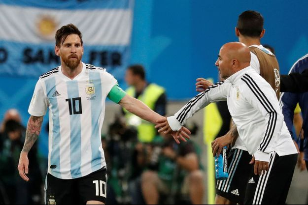 Leo Messi et Jorge Sampaoli