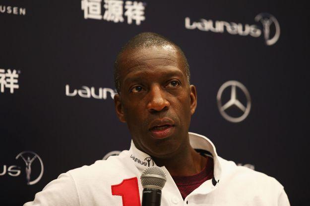 Michael Johnson à Shanghai pour assister aux Laureus Awards.