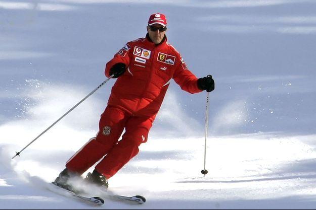 Michael Schumacher fait du ski à Madonna di Campiglio en 2006