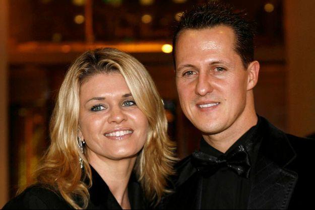Corinna et Michael Schumacher en décembre 2006 à Monaco.