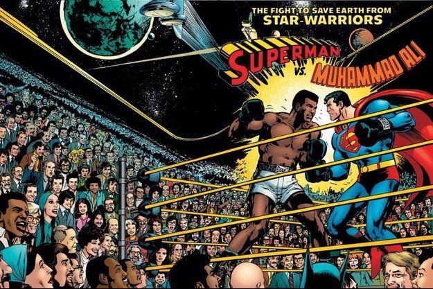 La couverture du comic-book Superman vs. Muhammad Ali de 1978.