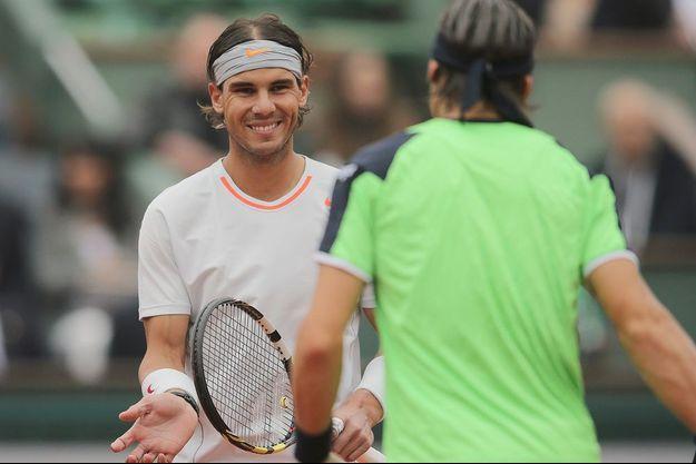 Rafael Nadal et David Ferrer.