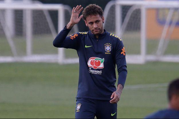 Neymar cette semaine en stage de préparation avec l'équipe nationale du Brésil à Teresopolis.