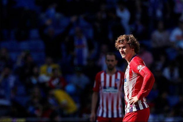 Antoine Griezmann sous le maillot de l'Atlético Madrid.