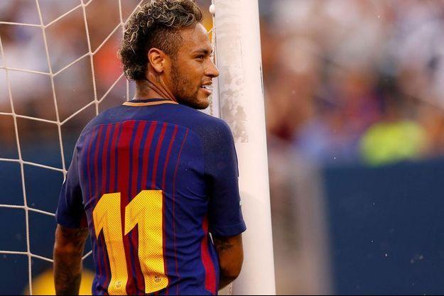 Neymar lorsqu'il était joueur du FC Barcelone en juillet 2017.