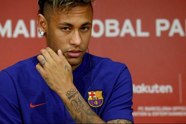 Neymar lorsqu'il était joueur à Barcelone, le 26 juillet dernier.