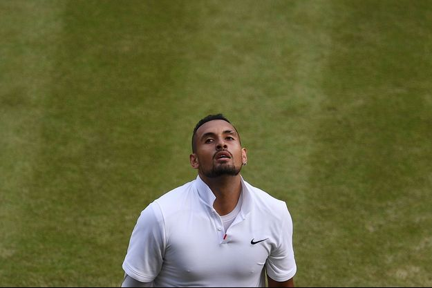 Nick Kyrgios face à Rafal Nadal, le 4 juillet 2019 à Wimbledon.