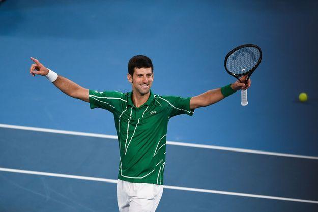 Novak Djokovic à Melbourne, le 2 février 2020.