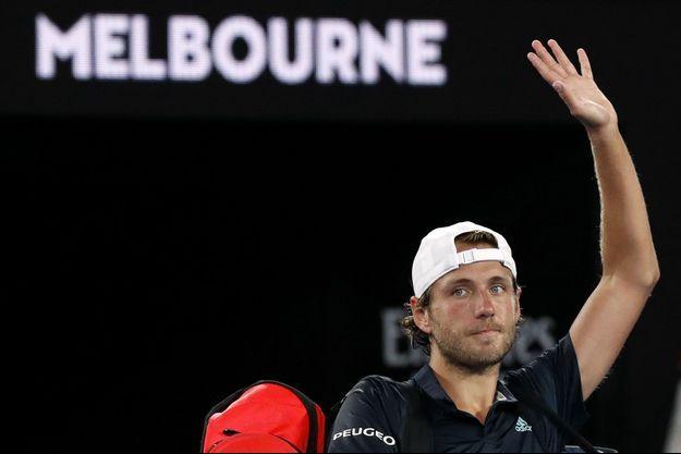 Lucas Pouille a été battu vendredi par Novak Djokovic.