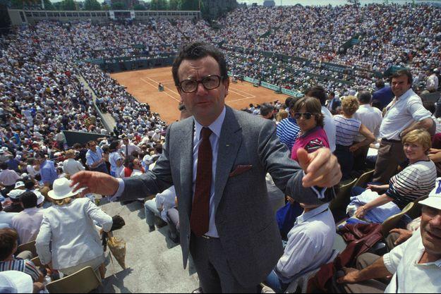 Philippe Chatrier à Roland-Garros.