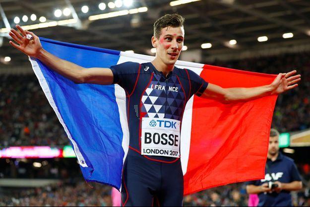 Pierre-Ambroise Brosse après sa victoire sur 800 m, mardi soir.