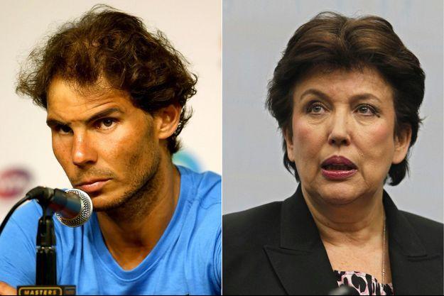 Rafael Nadal et Roselyne Bachelot