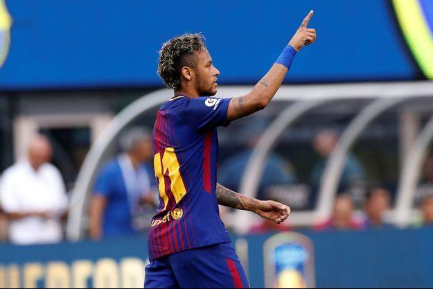 Le Brésilien Neymar sous le maillot du FC Barcelone.