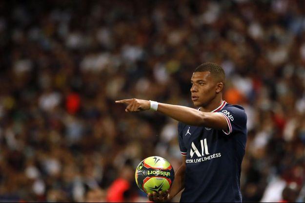 Kylian Mbappé sous le maillot du PSG.