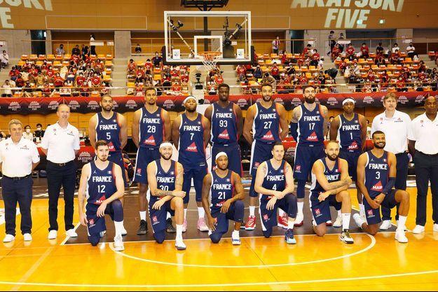 L'équipe de France de basket masculine.