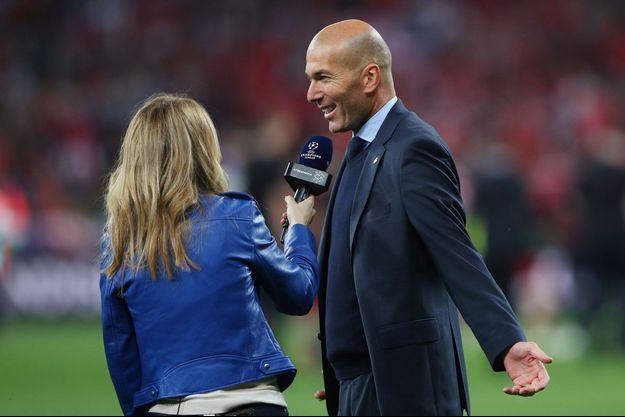 Zinédine Zidane samedi soir à Kiev lors de la finale de la Ligue des Champions remportée par le Real Madrid.