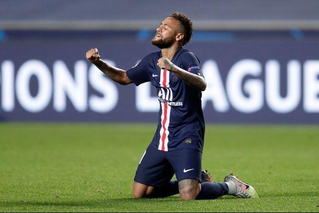 Le Brésilien Neymar face à Leipzig.
