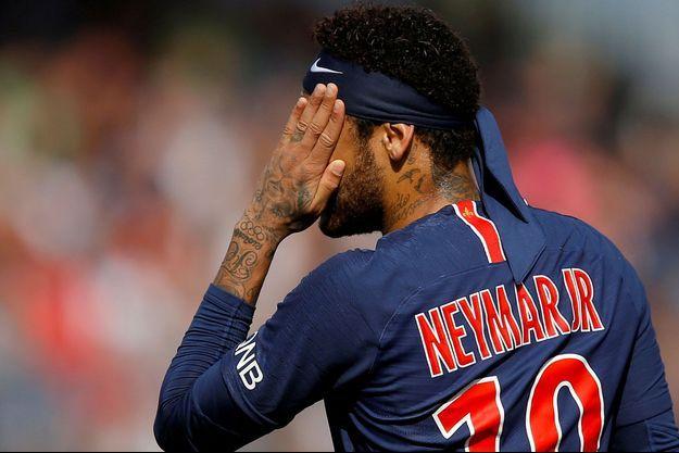 Neymar lors d'Angers/PSG, en mai dernier.